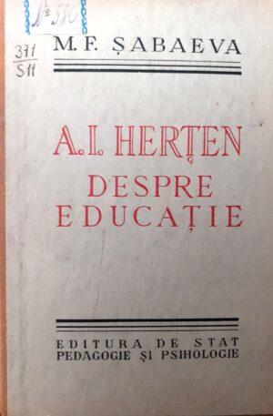 A. I. Herten Despre educatie