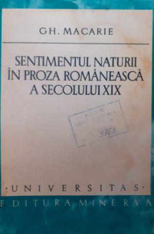 Sentimentul naturii in proza romaneasca a secolului XIX