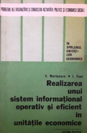 Realizarea unui sistem informational operativ si eficient in unitatile economice