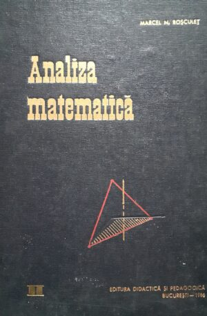 Marcel N. Rosculet Analiza matematica
