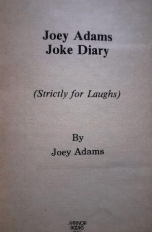 Joey Adams Joke Diary