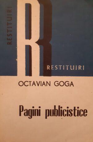 Octavian Goga Pagini publicistice