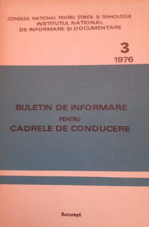 Buletin de informare pentru cadrele de conducere