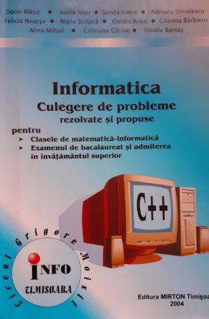 Informatica - culegere de probleme rezolvate si propuse