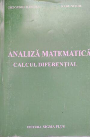 Analiza matematica. Calcul diferential
