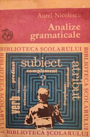 Aurel Nicolescu Analize gramaticale