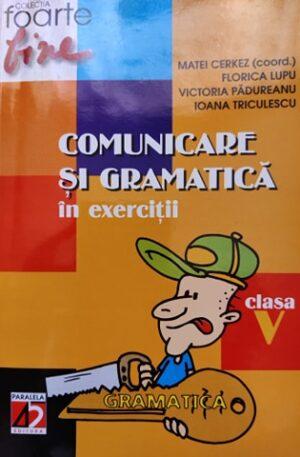 Comunicare si gramatica in exercitii, clasa V