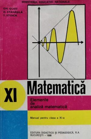 Matematica. Manual pentru clasa a XI-a