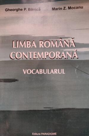 Limba romana contemporana. Vocabularul