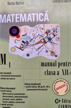 Matematica M1, manual pentru clasa a XII-a