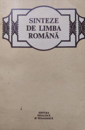 Theodor Hristea Sinteze de limba romana